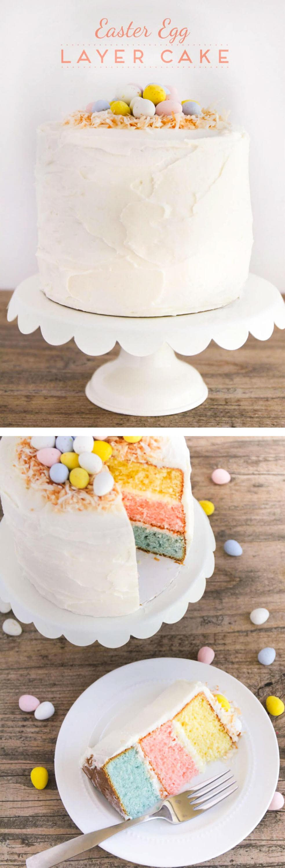 Easter Egg Layered Cake - I Heart Nap Time
