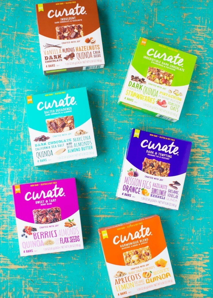These Curate bars are delicious and come in so many different flavors!