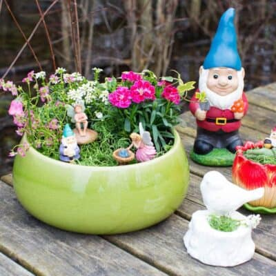 DIY Planter Fairy Garden - for indoor or outdoor use that the kids can help create! Such a fun way to add a little magic to your yard.