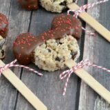 Oreo Mickey Mouse Rice Krispy Treats - these tasty treats are easy to make and fun to serve. Perfect for Disney lovers of all ages!