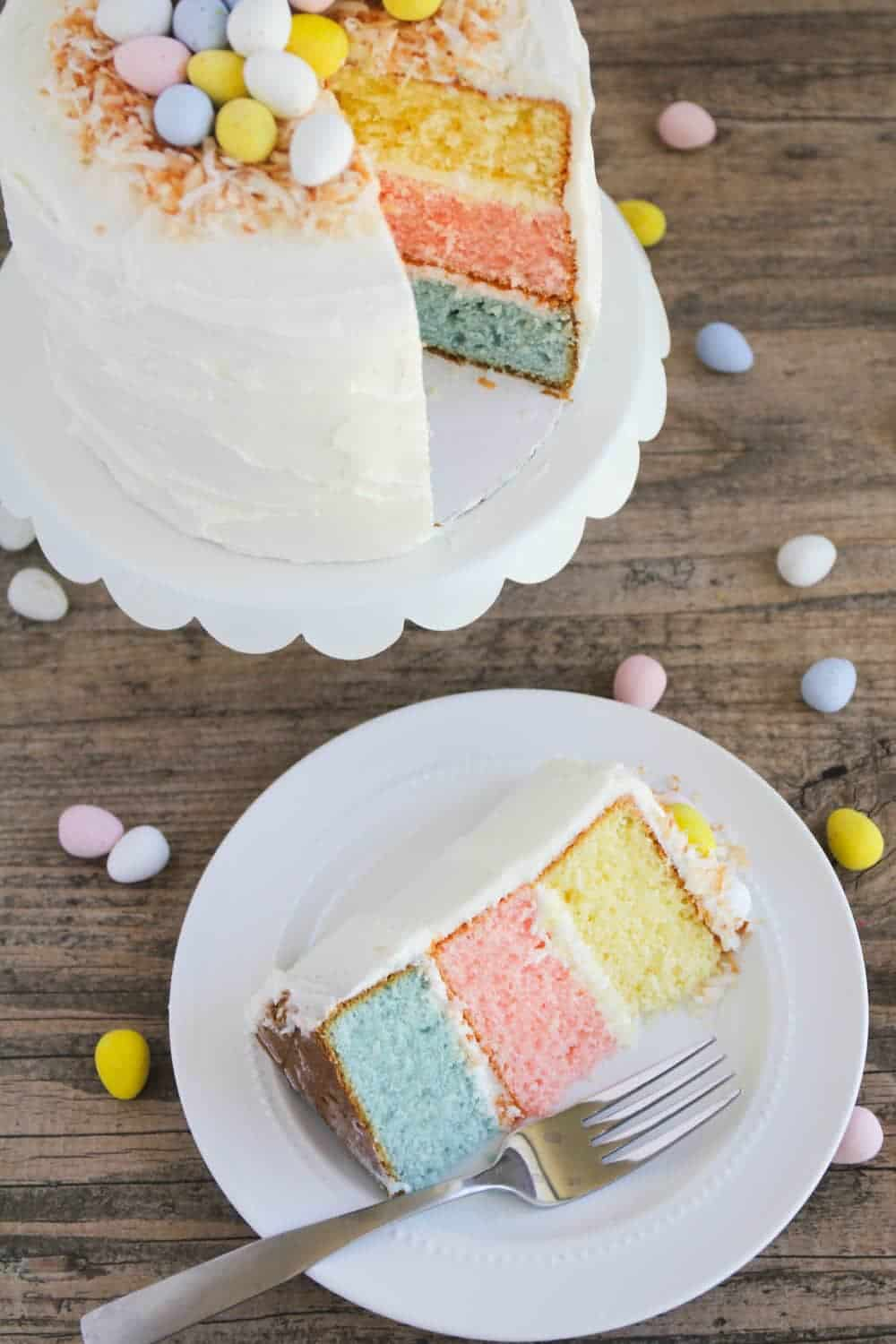 Easter Egg Layered Cake Recipe — Dishmaps