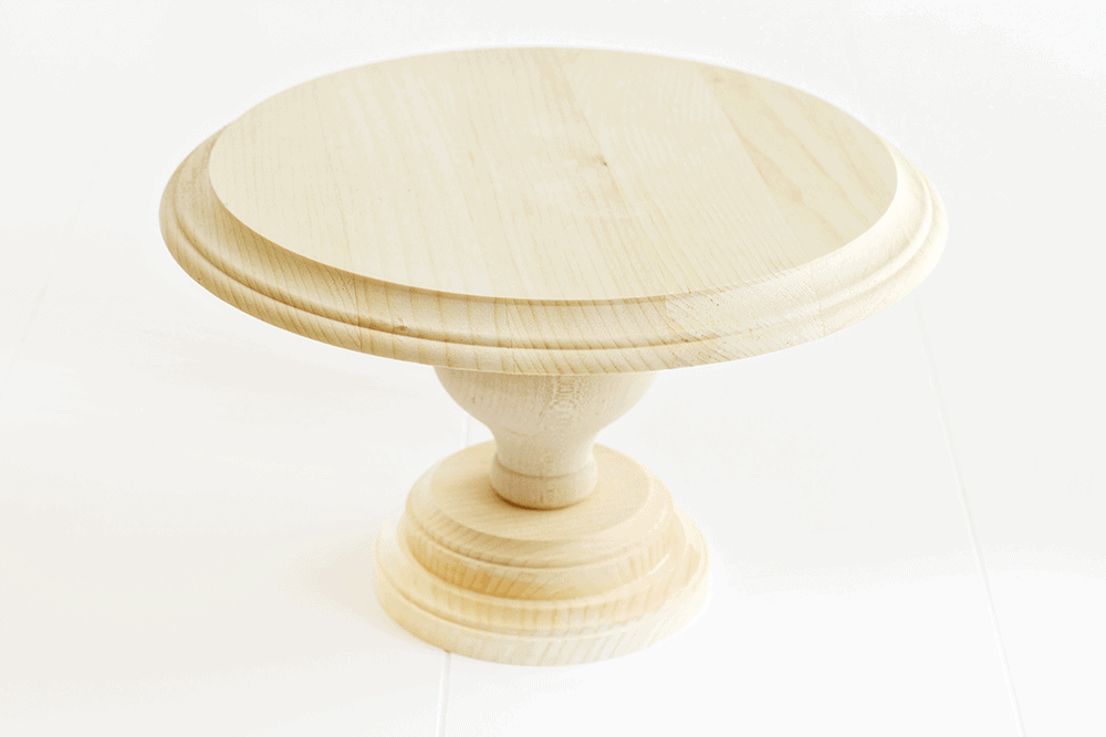 ... DIY Wood Cake Stand... an easy, customizable DIY perfect for displaying  sweet