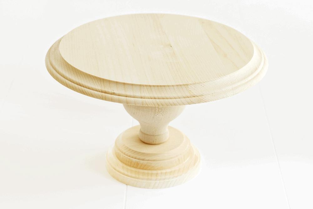 DIY Wood Cake Stand - I Heart Nap Time