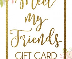 Meet My Friends Gift Card Giveaway! Join me in some fun and meeting some amazing peoples!