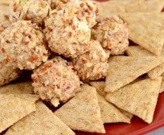 Recipe for Mini Bacon Ranch Cheese Ball Bites