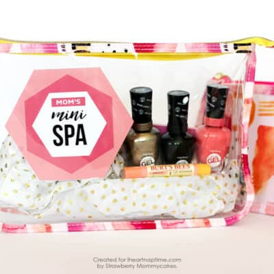 Mother's Day Mini Spa Printables - so easy to print off and stick in a cute makeup case.