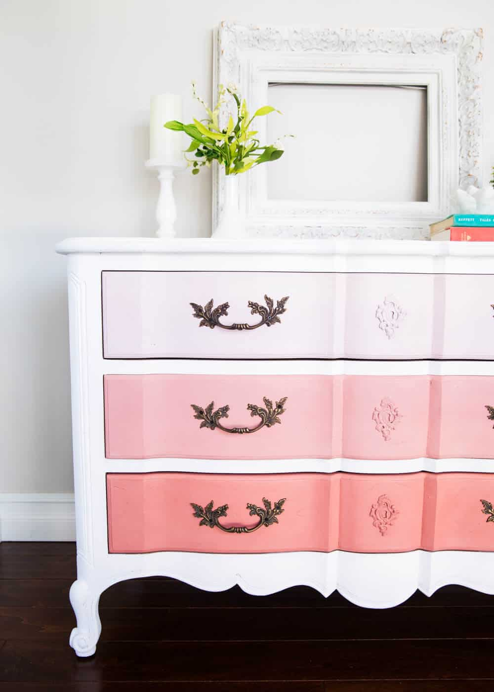 How to paint furniture and ombre dresser i heart nap time for How to paint my bedroom furniture