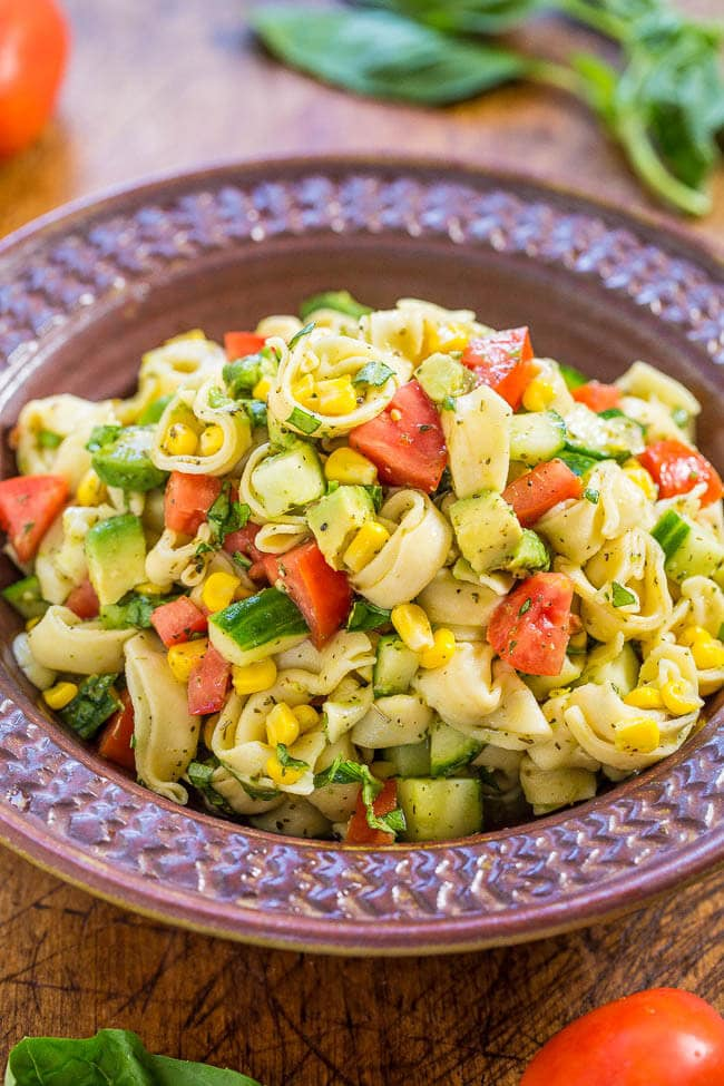 Top 50 Pasta Salads - an amazing guide to the best pasta salads, perfect for busy weeknight dinners, BBQs, and family gatherings!