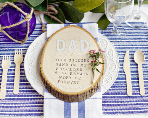 DIY Father's Day Place Card - Father's Day is making its way and I wanted to create a heartwarming DIY Place Card that will make any Father feel special.