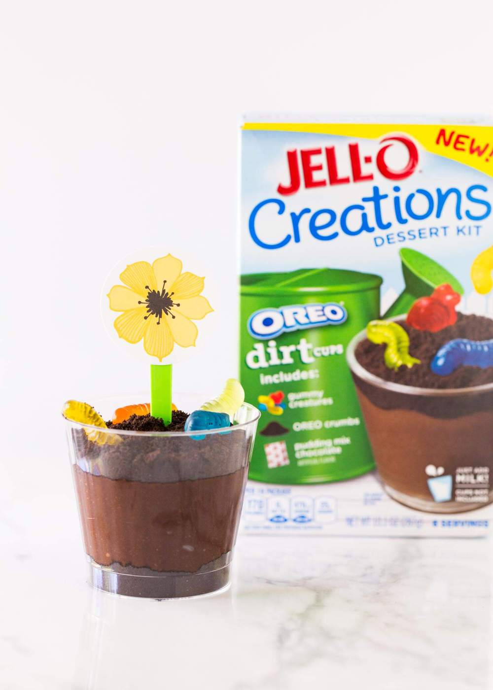 Flower pot OREO pudding cups... this no bake dessert couldn't be any ...
