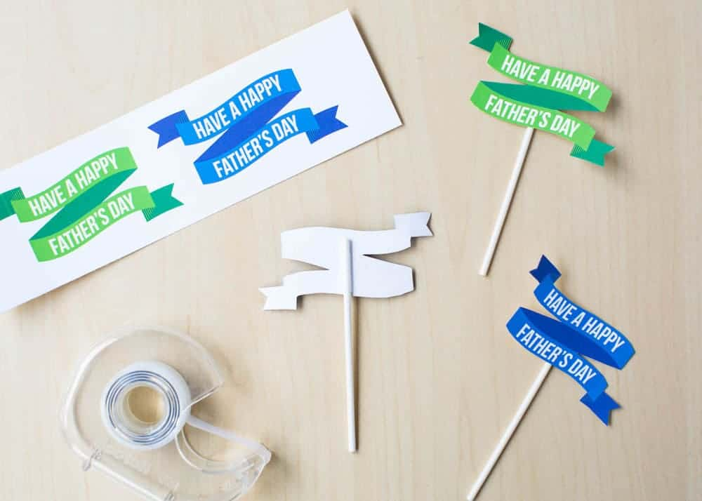 FREE Fathers Day printable cake topper