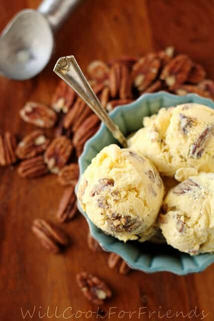 Browned Butter Pecan Ice Cream on the Top 50 Homemade Ice Cream and Popsicle Recipes