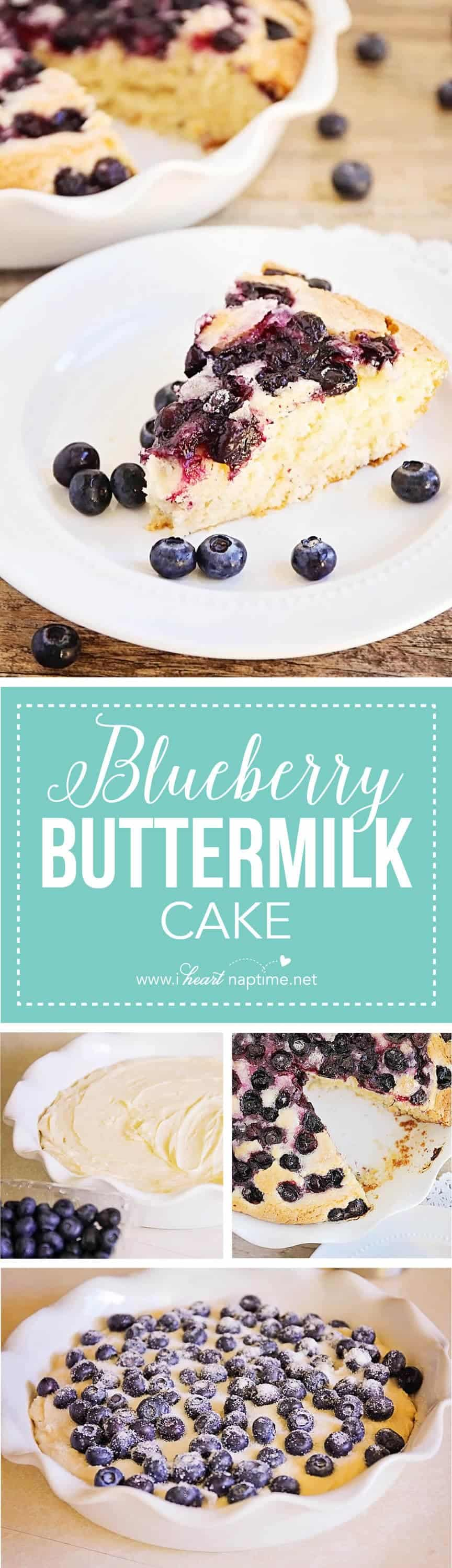 Blueberry Buttermilk Cake... this simple and sweet cake is quick and ...