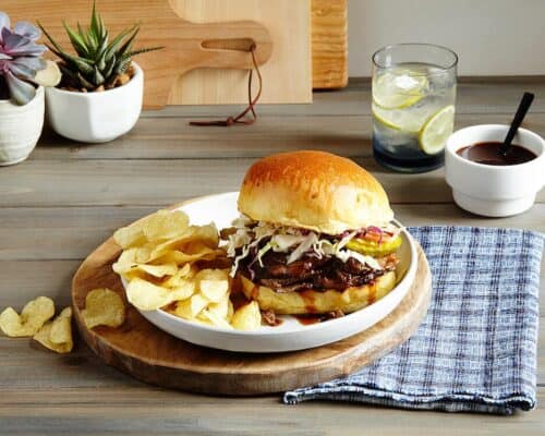 Slow Cooker BBQ Brisket Sandwiches – a perfect dinner for hot summer nights!