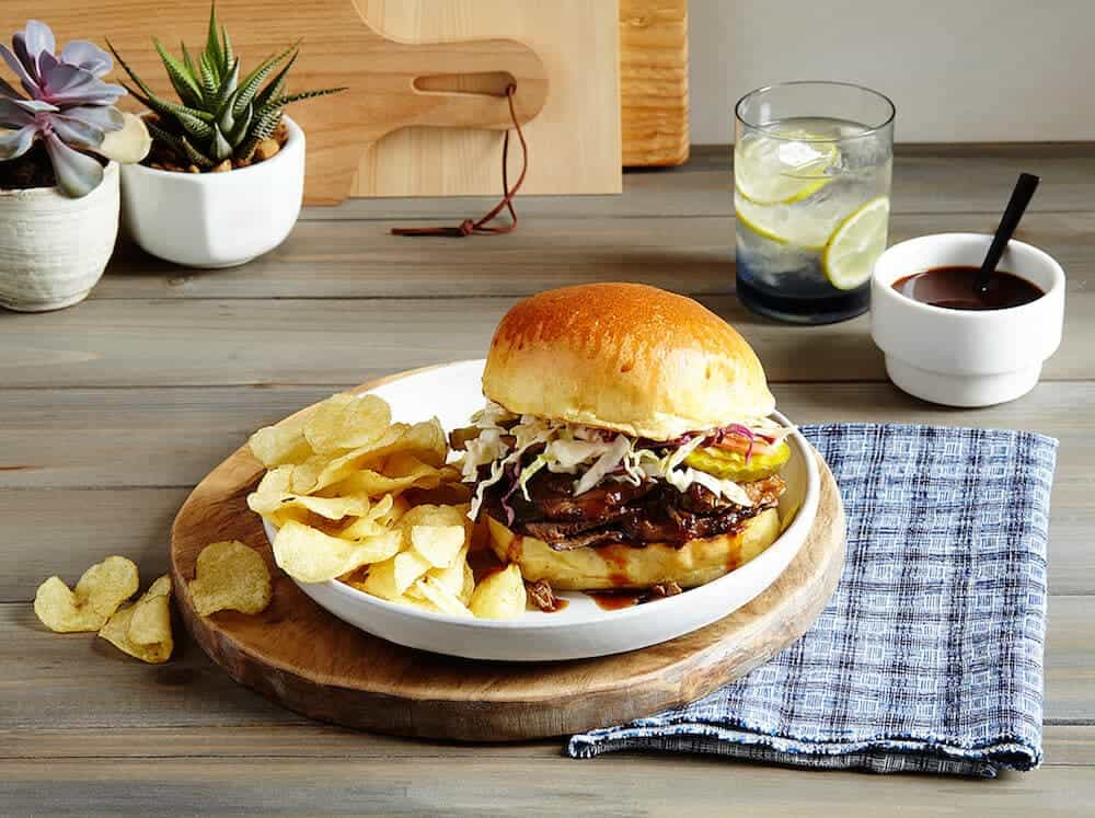 Delicious and easy Slow Cooker BBQ Brisket Sandwiches