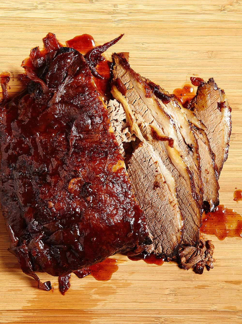 BBQ Brisket Sandwich Sliced - so delicious and easy!