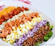 Buffalo Chicken Cobb Salad, easy to make and so delicious!