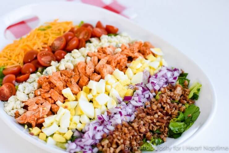 Buffalo Chicken Cobb Salad, easy to make and so delicious!