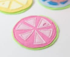 Citrus Coasters - an easy and quick DIY, perfect for summer!