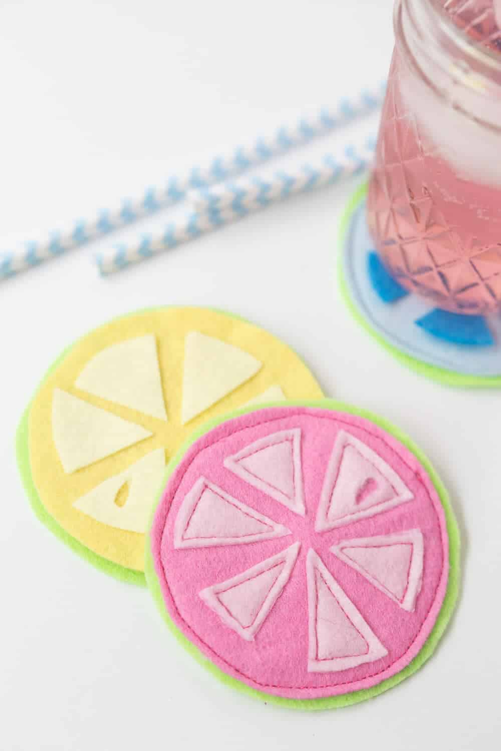 Citrus Coasters - an easy DIY for your cool summer drinks!
