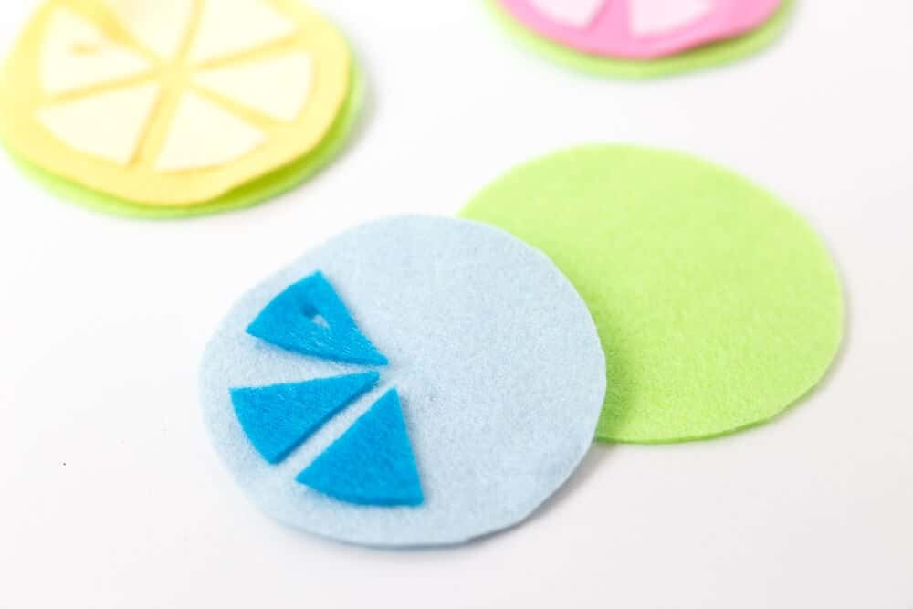 Citrus Coasters - putting them together