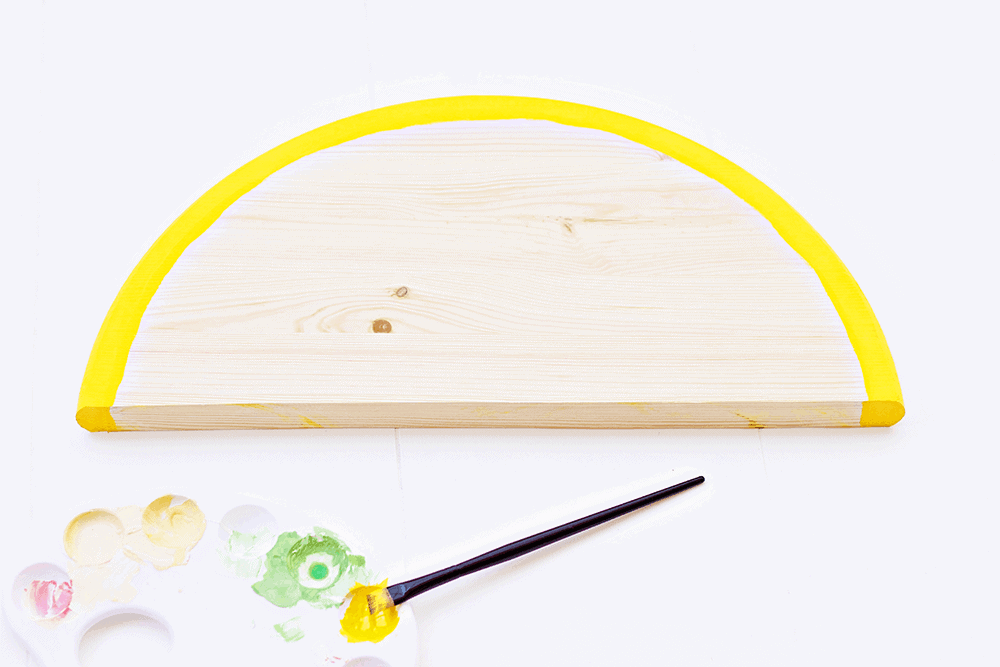Citrus Fruit Serving Trays - getting the paint started - this so so fun and easy!