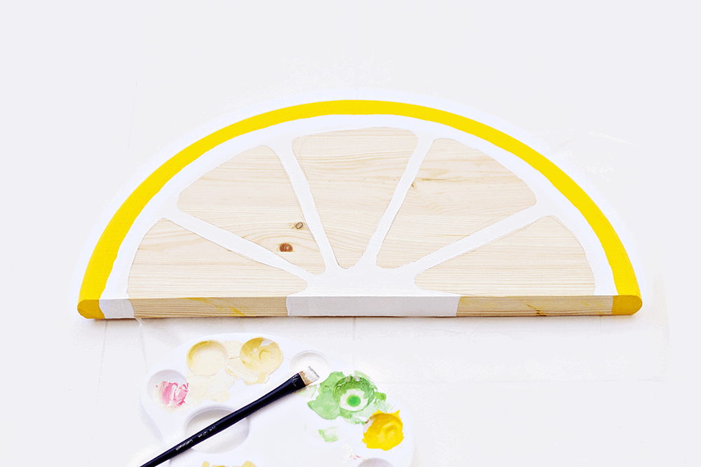 Citrus Fruit Serving Trays - the lemon is starting to come together!