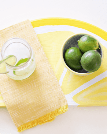 Citrus Fruit Serving Trays - an easy DIY, perfect for summer time!