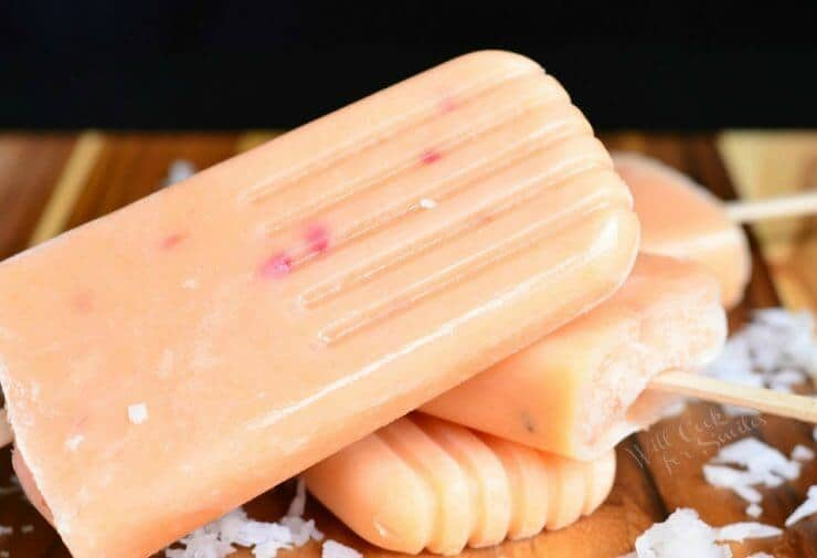 Coconut and Peach Creamy Popsicles on the Top 50 Homemade Ice Cream and Popsicle Recipes