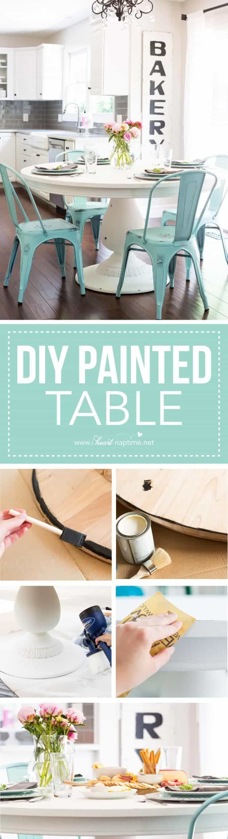 DIY Chalk Paint Table + Cheese Board - I Heart Nap Time