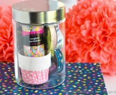 Favorite Things Gift in a Jar - A fun way to give a gift of your favorites!