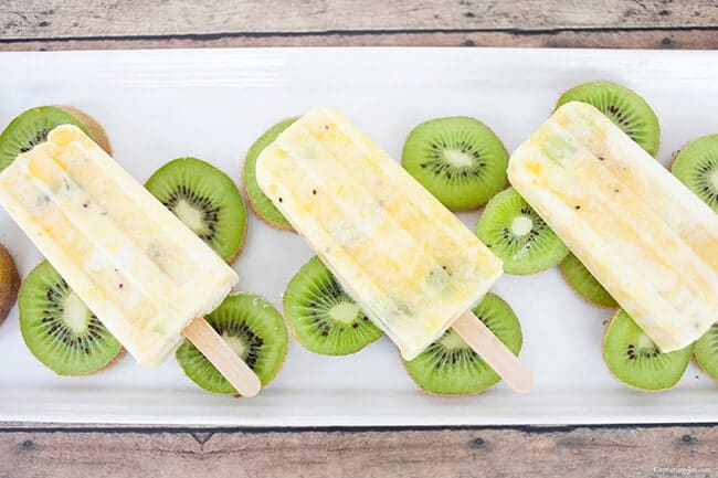 Healthy Citrus Kiwi Pops on Top 50 Homemade Ice Cream and Popsicle Recipes