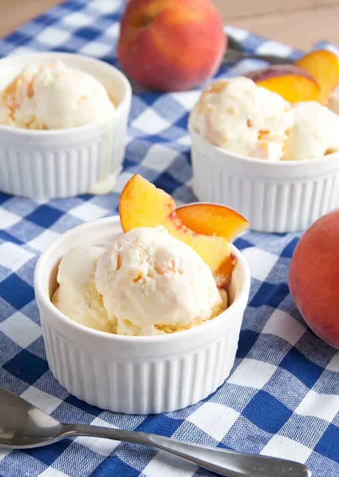 Homemade Peach Ice Cream on the Top 50 Homemade Ice Cream and Popsicle Recipes