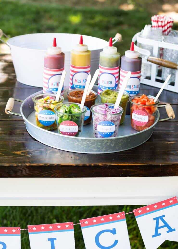 Hot Dog Toppings Bar For The 4th Of July I Heart Nap Time