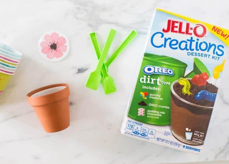 Dirt Cake Recipe Jello: Flower Pot OREO Dirt Pudding Cups