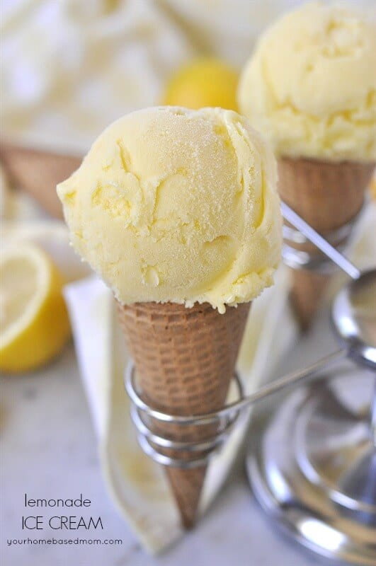 Lemonade Ice Cream on Top 50 Homemade Ice Cream and Popsicle Recipes