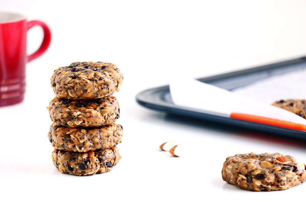 It only takes 5 minutes to make these easy No Bake Breakfast Cookies