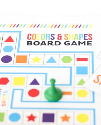 Shapes and Colors Printable Board Game - the prefect free summer activity!