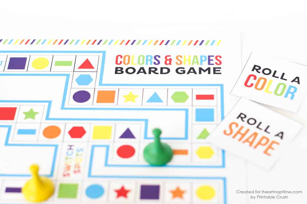 Shapes And Colors Printable Board Game