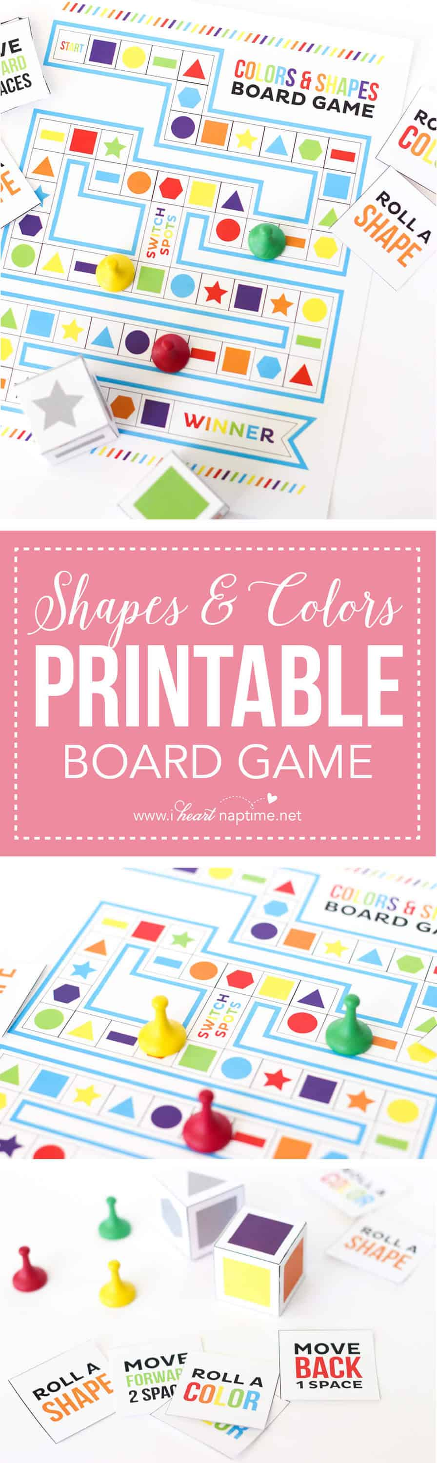picture regarding Printable Board Games named Designs and Hues Printable Board Match - I Center Nap Period