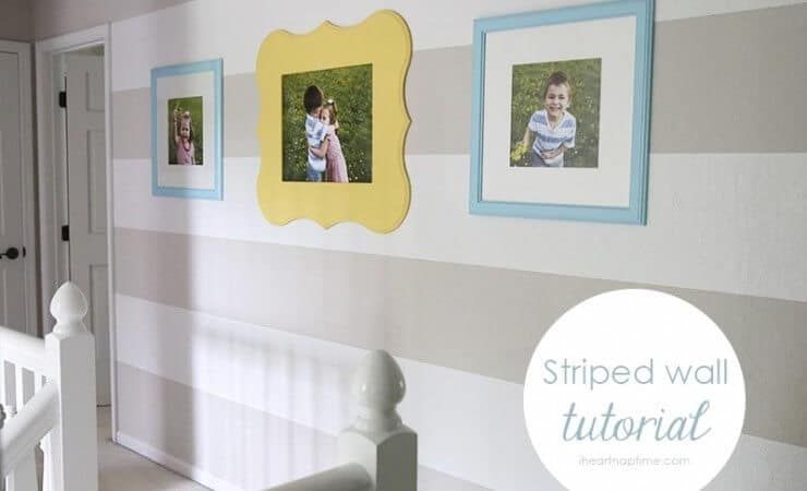 DIY stripe wall