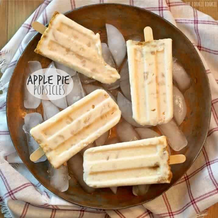 Apple Pie Popsicles on the Top 50 Homemade Ice Cream and Popsicle Recipes
