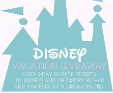 Disney Vacation Giveaway... enter to win a family vacation!