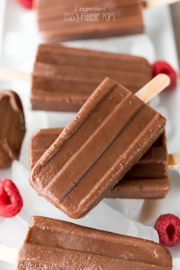 2 Ingredient Fudge Pops on the Top 50 Homemade Ice Cream and Popsicle Recipes
