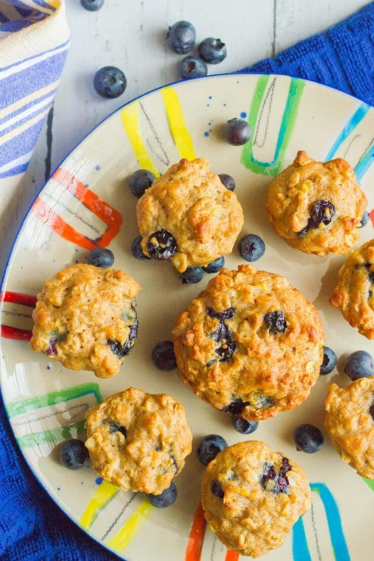 Top 50 Back to School Lunches and Snacks... Banana Blueberry Muffins