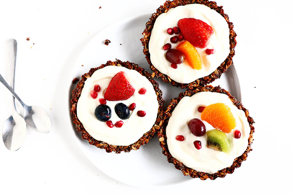 Breakfast Fruit Tarts... deceptively easy to make, and so healthy and delicious!