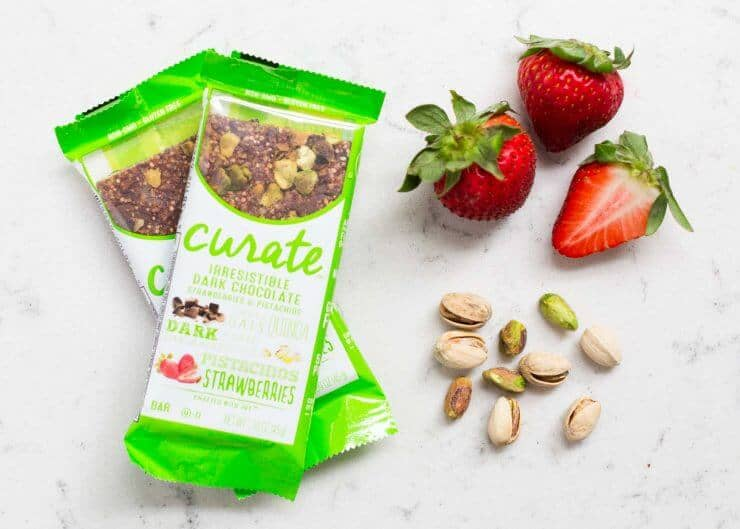 The inspiration to my Strawberry Burrata Salad... these delicious Curate bars!