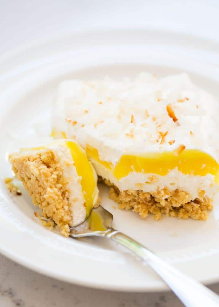Lemon Coconut Cream Dessert Lasagna... an incredibly easy dessert!