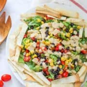 Mexican Chopped Salad with Chipotle Dressing... an easy and delicious summertime meal!