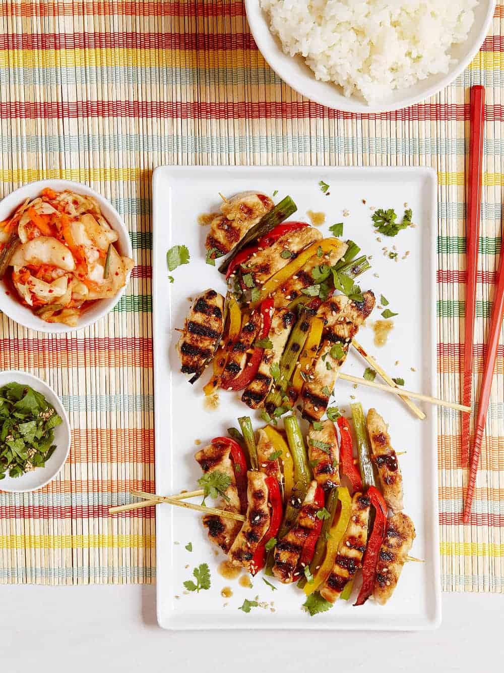 Korean Grilled Chicken and Veggie Skewers – a delicious and easy family meal, sure to become your new favorite!